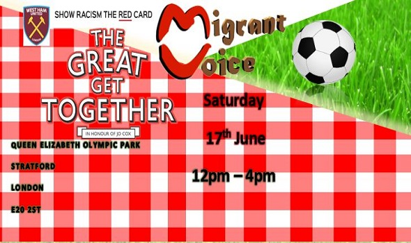 Migrant Voice - Common Goals - Friendly Football Match