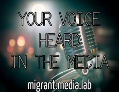 Migrant Voice - Birmingham Media lab training session