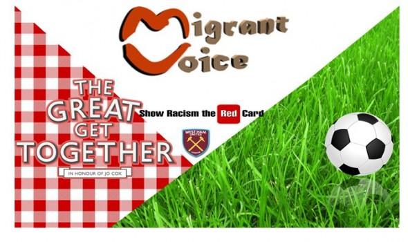 Migrant Voice - Our friendly football match with West Ham & Show Racism the Red Card London 18 June 2017