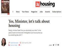 Migrant Voice - 24Housing comment piece on housing