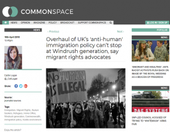 Migrant Voice - Commonspace interview on hostile environment