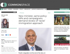 Migrant Voice - Commonspace interview on appointment of new minister