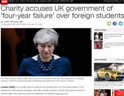 Migrant Voice - CNN report of MV international student campaign
