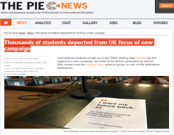 Migrant Voice - Pie News reports MV international student campaign