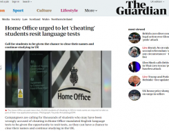 Migrant Voice - The Guardian reports on MV international student campaign
