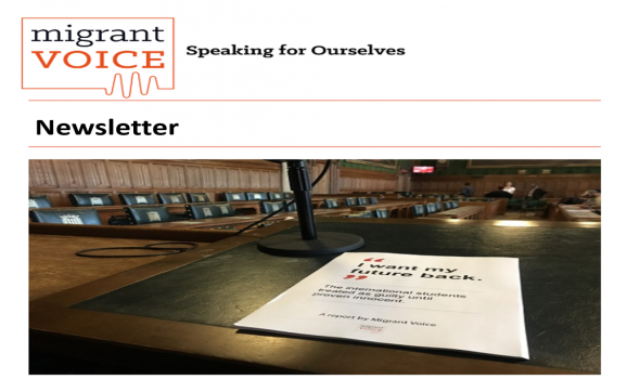 Migrant Voice - Get our newsletter
