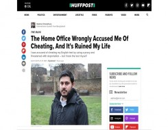 Migrant Voice - Huffington Post publishes blog by one of the students wrongly accused by the Home Office