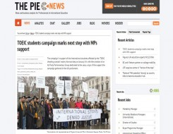 Migrant Voice - PIE News reports on Parliament demo