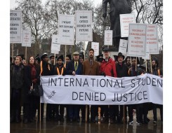 Migrant Voice - Five years in limbo: International students go to Westminster to call for justice