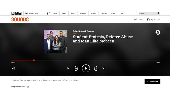 Migrant Voice - BBC Asian Network reports on Parliament demo