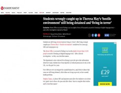 Migrant Voice - The Independent reports on international students campaign