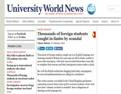 Migrant Voice - University World News reports on international student campaign