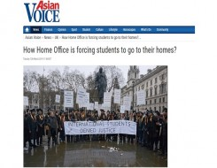 Migrant Voice - Asian Voice reports on students' campaign