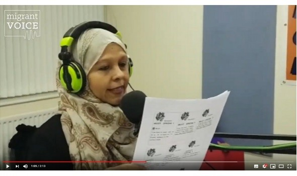 Migrant Voice - MV member shares her poetry on Birmingham local radio