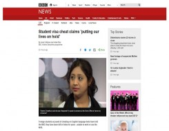 Migrant Voice - BBC writes about students' interview on Victoria Derbyshire