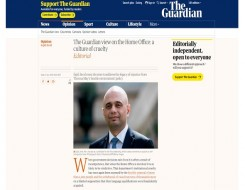 Migrant Voice - The Guardian editorial calls on the Home Secretary to take action over international students