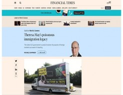 Migrant Voice - Students injustice leads Financial Times opinion piece