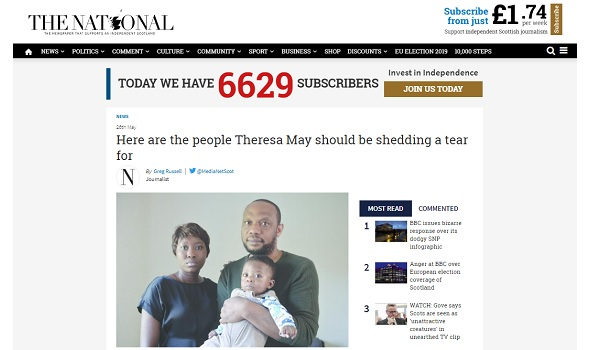 Migrant Voice - Comment from MV Director in The National article about Theresa May