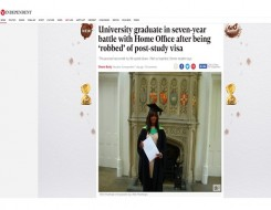 Migrant Voice - MV member speaks to Independent about Home Office battle