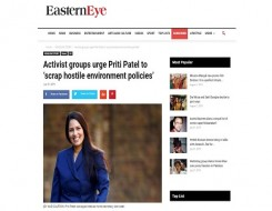 Migrant Voice - MV Director speaks to Eastern Eye about new Home Secretary