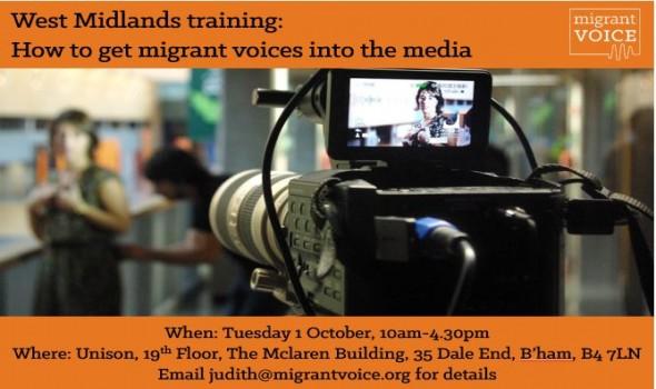 Migrant Voice - Media training day in Birmingham