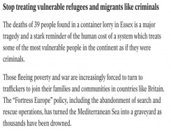 Migrant Voice - MV signs letter published in Independent