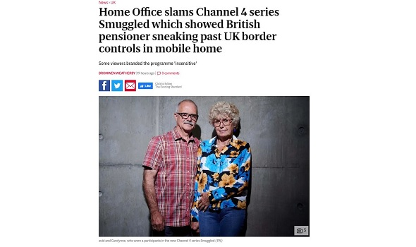 Migrant Voice - Evening Standard article features MV response to 'Smuggled'