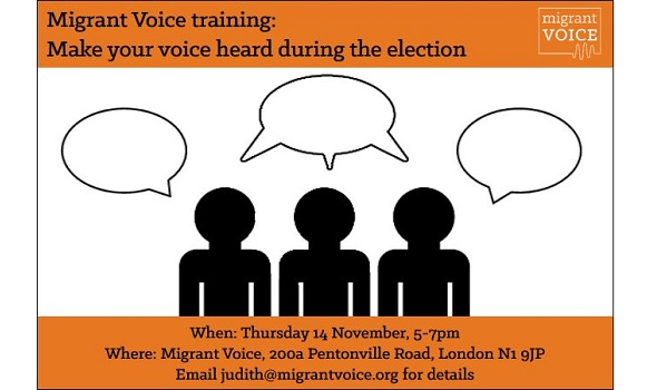 Migrant Voice - Training: Make your voice heard during the election