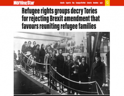 Migrant Voice - MV in Morning Star article about refugee family reunification