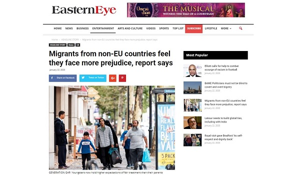 Migrant Voice - MV responds to new report on discrimination against migrants