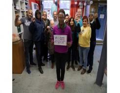 Migrant Voice - Hundreds support #IAmEspoir campaign