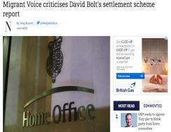 Migrant Voice - Media coverage of MV response to Settlement Scheme report