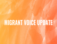 Migrant Voice - Important update about Migrant Voice work