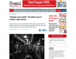 Migrant Voice - MV member speaks to Prospect magazine about night workers
