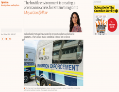 Migrant Voice - MV member speaks to Maya Goodfellow for Guardian article