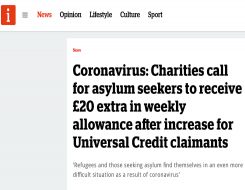 Migrant Voice - MV quoted in story about asylum seeker support