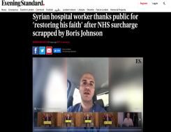 Migrant Voice - Member speaks to Press Association about surcharge