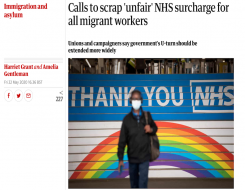 Migrant Voice - Guardian speaks to MV member about surcharge