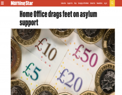 Migrant Voice - MV speaks to Morning Star about asylum support