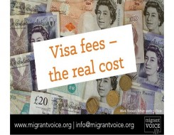 Migrant Voice - Briefing on visa fees sent to all MPs