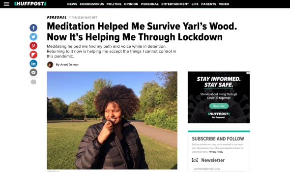 Migrant Voice - Member writes first-person piece for Huffington Post