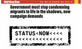 Migrant Voice - MV speaks to Morning Star about Status Now campaign