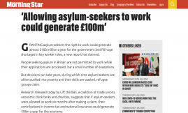 Migrant Voice - MV member speaks to Morning Star about impact of not being allowed to work as an asylum seeker