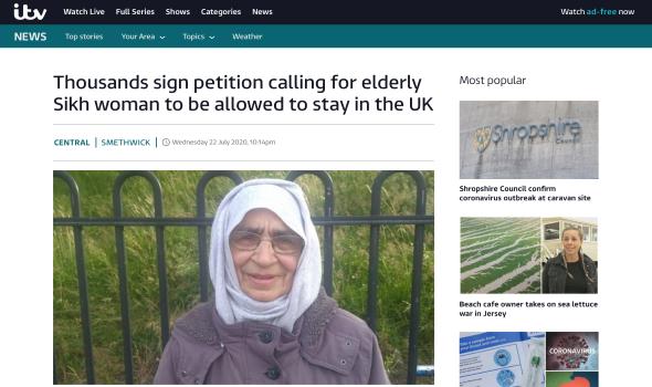 Migrant Voice - Coverage of the Gurmit Kaur campaign