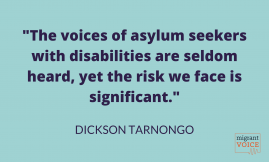 Migrant Voice - Asylum seekers with disabilities and Covid-19