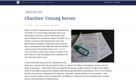 Migrant Voice - European news website writes about the impact of Covid-19 on charities including MV