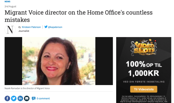 Migrant Voice - MV member & Director speak to The National about devastating impact of Home Office mistakes