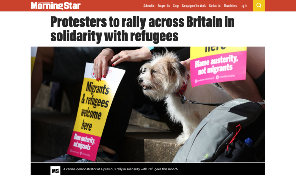 Migrant Voice - Morning Star quotes Migrant Voice in report on nationwide demonstration in support of migrants and refugees