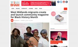 Migrant Voice - Birmingham news platform reports on MV members' Black History Month e-magazine