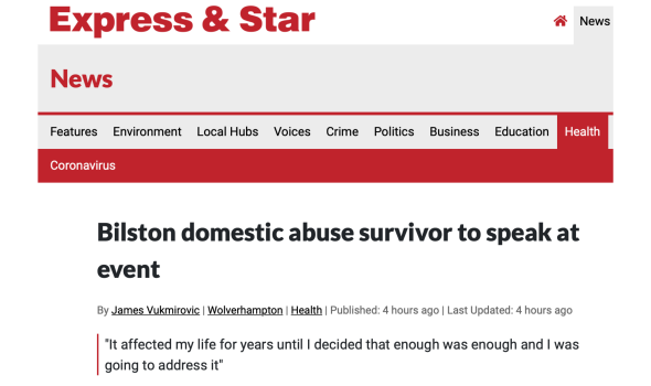 Migrant Voice - Express & Star reports on Domestic Violence Awareness event organised by MV member